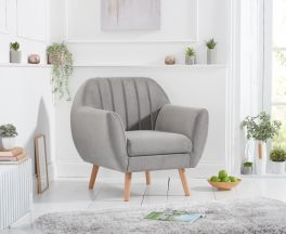 Luxor Grey Velvet Armchair