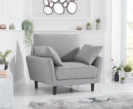 Caracus Grey Linen Armchair