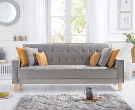 Ramsey Grey Velvet Sofa Bed