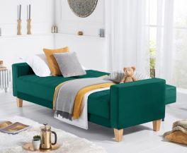 Ramsey Green Velvet Sofa Bed