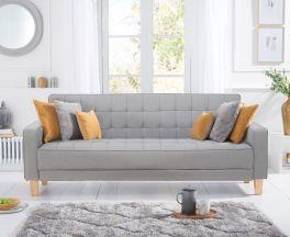 Ramsey Grey Linen Sofa Bed