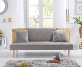 Waltham Grey Velvet Sofa Bed