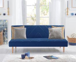 Waltham Blue Velvet Sofa Bed