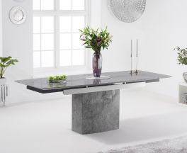 Mozart 160cm Grey Extending Marble Dining Table