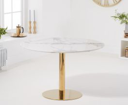 Nevada 120cm Round White Dining Table