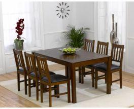 Marbella Dark 150cm Dining Set