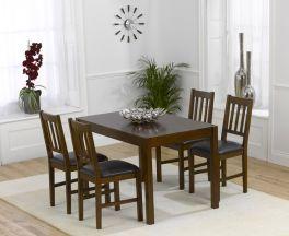 Marbella Dark 120cm Dining Set