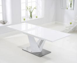 Haven 160cm Extending White High Gloss Dining Table