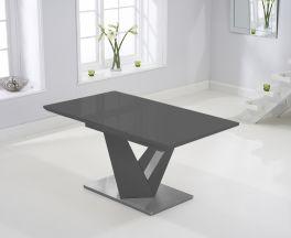 Haven 160cm Extending Dark Grey High Gloss Dining Table