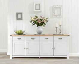 Sandringham 4 Door 4 Drawer Oak & White Sideboard