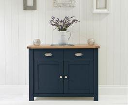 Sandringham Oak & Blue Medium Sideboard