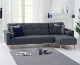 Abigail Grey Linen Right Hand Facing Chaise Sofa