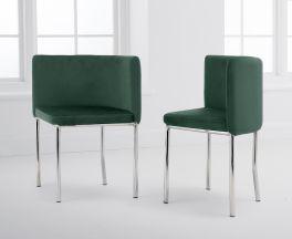 Abingdon Green Velvet Chair (Set of 4)