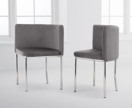 Abingdon Grey Velvet Chair (Set of 4)