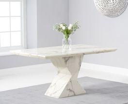 Allen 160cm White Dining Table