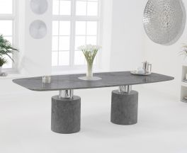 Adeline 260cm Grey Marble Dining Table