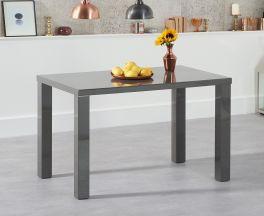 Ava 120cm Dark Grey High Gloss Dining Table