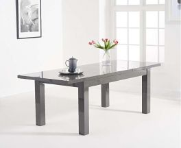 Ava Dark Grey Gloss 160-220cm Extending Table