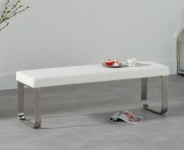 Ava Medium White Bench