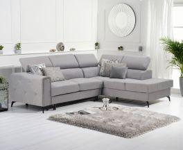 Alyssa Grey Linen Right Hand Facing Corner Sofa Bed