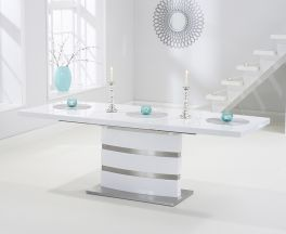 Beaconsfield White High Gloss Extending Dining Table