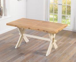 Avignon 165cm Oak & Cream All Sides Dining Table