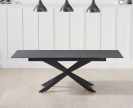 Britolli 180cm Extending Grey Stone Finish Dining Table