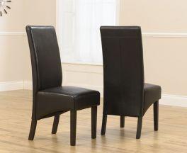 Dakota Brown Chairs (Pairs)
