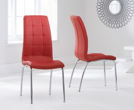 California Dining Chair Red(Pairs)