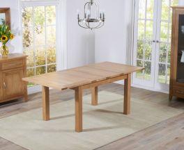 Cambridge 130cm Oak Extending Dining Table