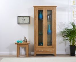 CAMBRIDGE 180CM Oak Display Unit (2 doors + 2 drawers)