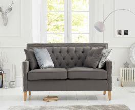 Casa Bella Grey Fabric 2 Seater Sofa