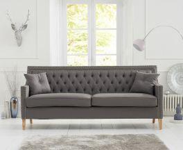 Casa Bella Grey Fabric 3 Seater Sofa