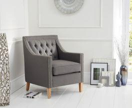 Casa Bella Grey Fabric Armchair