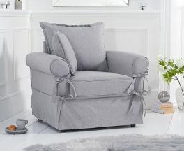 Celia Grey Linen Armchair