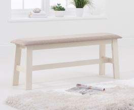 Chichester Cream/Cream Fabric Padded Large Bench