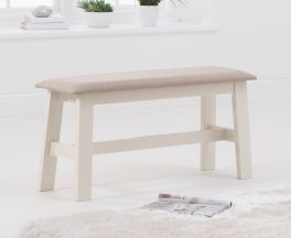 Chichester Cream/Cream Fabric Padded Small Bench