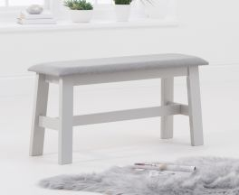 Chichester Grey/Grey Fabric Padded Small Bench