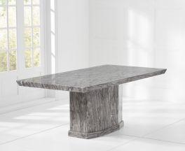 Como Grey 160cm Marble Dining Table