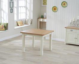 Sandringham 90cm Oak & Cream Flip Top Dining Table