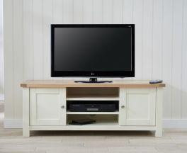 Sandringham Oak & Cream Tv Unit