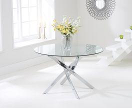 Daytona 120cm Glass Round Dining Table