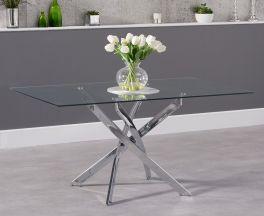Daytona 160cm Rectangular Glass Dining Table