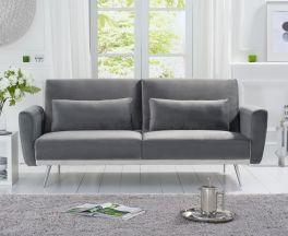 Elsa Grey Velvet Sofa Bed