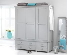 Sandringham Grey Triple Wardrobe