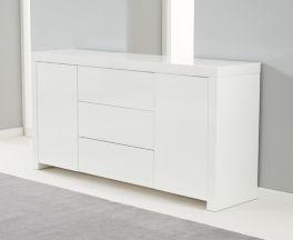 Hereford 160cm White High Gloss Sideboard