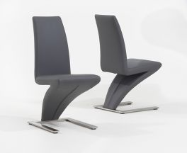Hereford Grey Dining Chairs (Pairs)