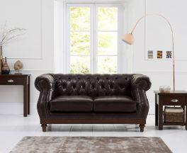 Highgrove Brown Leather 2 Seater Sofa