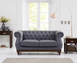 Highgrove Grey Leather 2 Seater Sofa