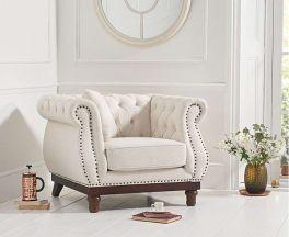 Highgrove Ivory Linen Armchair
